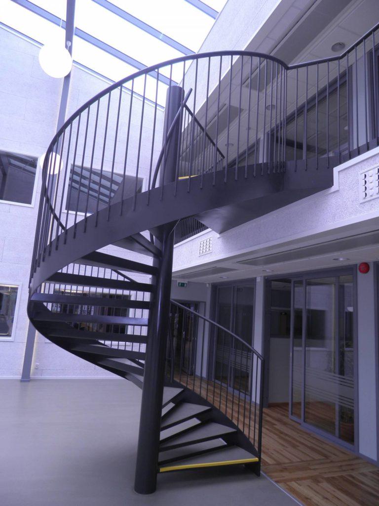 Spiraltrappa i stål 1 - Designtrappan/Ejendal